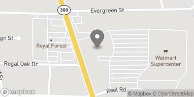 Map of 2306 Gilmer Road in Longview