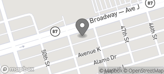 Map of 4825 Broadway in Galveston