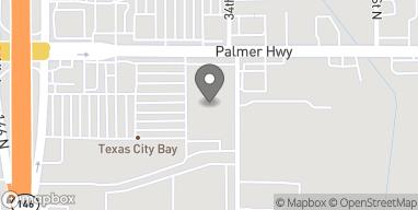 Mapa de 3401 Palmer Hwy en Texas City