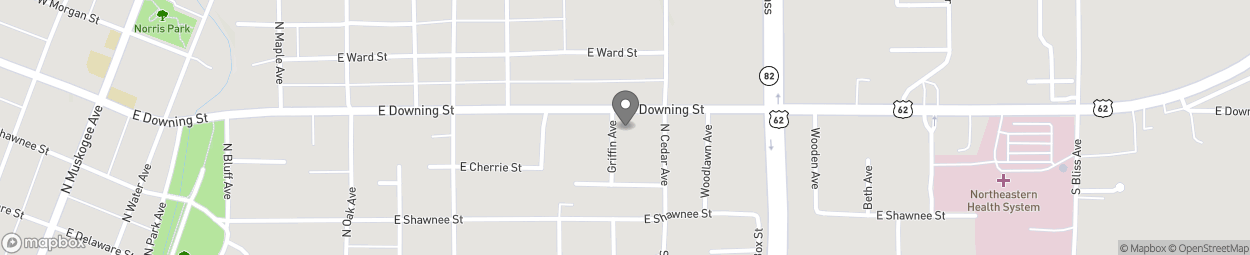 Map of 806 E Downing St in Tahlequah