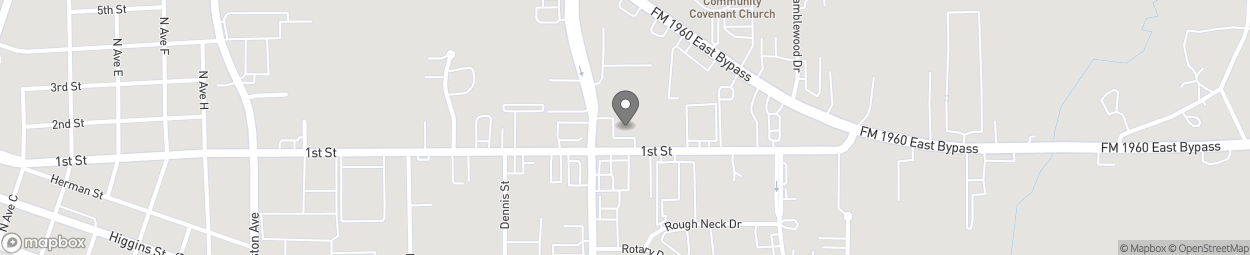 Map of 1655 1st Street East in Humble