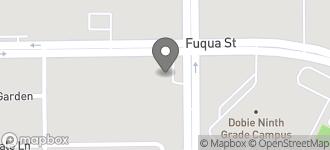 Map of 10658 Monroe Road in Houston