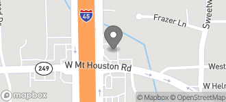 Map of 9404 N. Freeway 45 in Houston