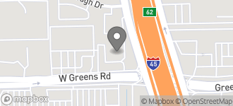 Map of 108 W Greens Rd in Houston