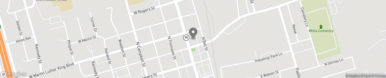 Map of 210 N Danville in Willis