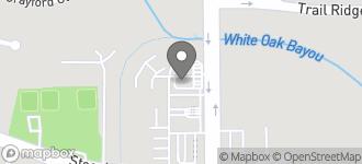 Map of 9825 Jones Road in Houston