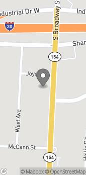 Map of 1335 S Broadway in Sulphur Springs