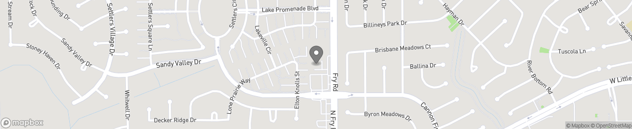 Map of 6211 North Fry Road in Katy