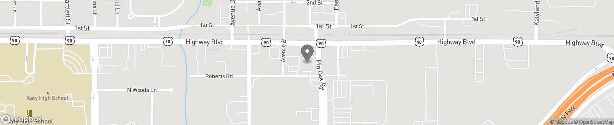 Map of 705 Pin Oak Rd in Katy