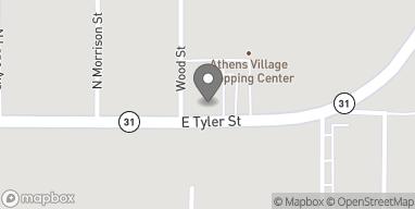 Mapa de 1103 E Tyler St en Athens