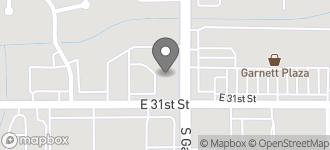 Map of 3036 S. Garnett in Tulsa