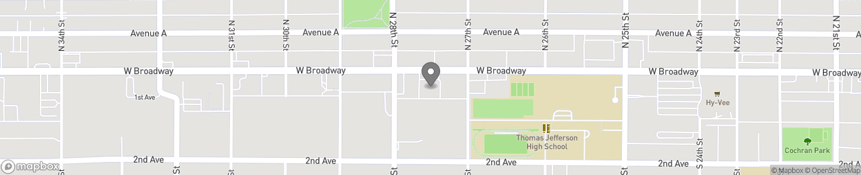 Map of 2729 W Broadway in Council Bluffs
