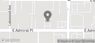 Map of 6307 East Admiral Place in Tulsa