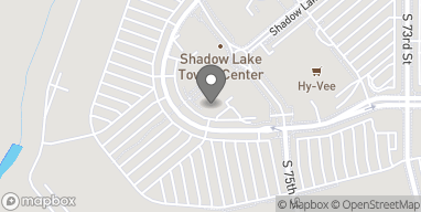 Map of 7640 Towne Center Parkway in Papillion
