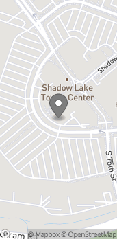 Map of 7640 Towne Center Pkwy in Papillion