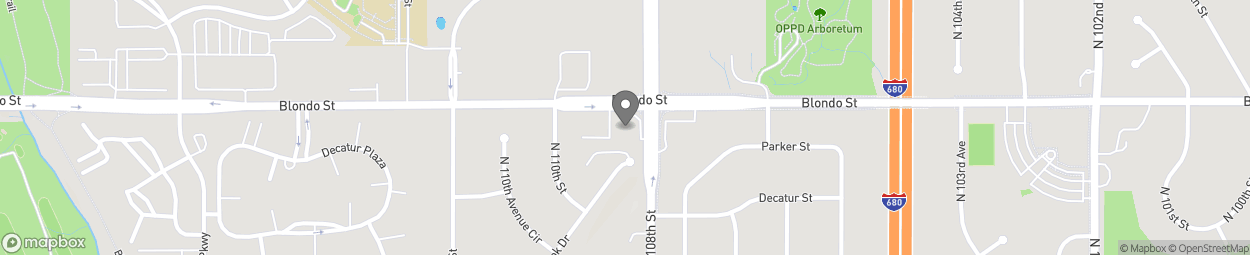 Carte de 10801 Blondo Street à Omaha