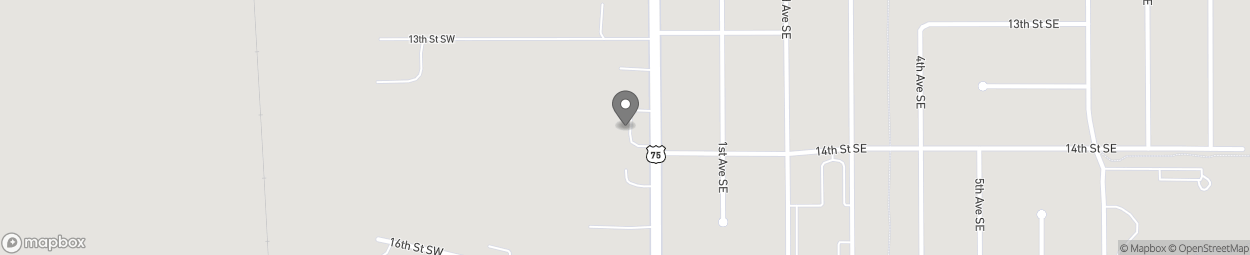 Map of 1367 South Main Street in Sioux Center
