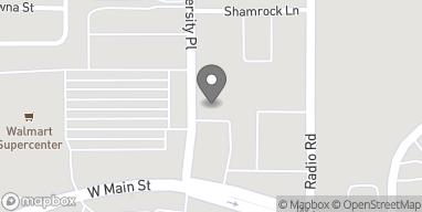 Mapa de 308 University Place en Durant