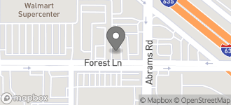 Map of 9363 Forest Lane in Dallas