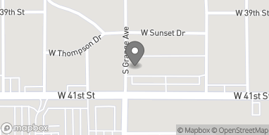 Map of 1224 West 41st Street in Sioux Falls