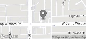 Map of 1025 W. Camp Wisdom in Dallas