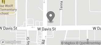 Map of 606 N. Hampton Road in Dallas