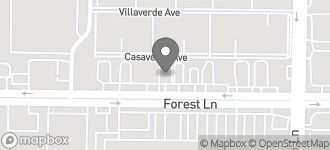 Map of 3601 Forest Lane in Dallas