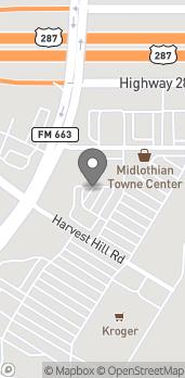 Mapa de 2020 FM 663 en Midlothian
