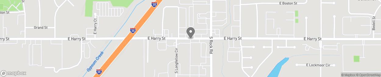 Carte de 7905 E Harry St à Wichita