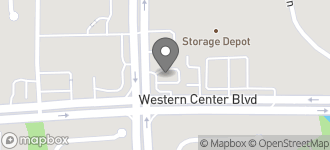 Map of 3605 Western Center Blvd. in Fort Worth