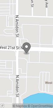 Map of 1981 W 21st St N in Wichita