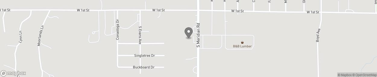 Carte de 201 South Meridian Road à Newton