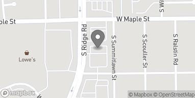 Map of 334 S Ridge Rd in Wichita