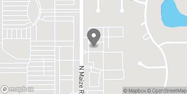 Map of 2404 N Maize Rd in Wichita