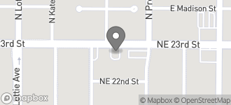Map of 1424 N.E. 23rd in Oklahoma City