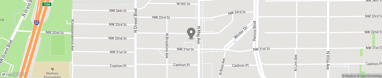 Map of 3217 N May Avenue in Oklahoma City