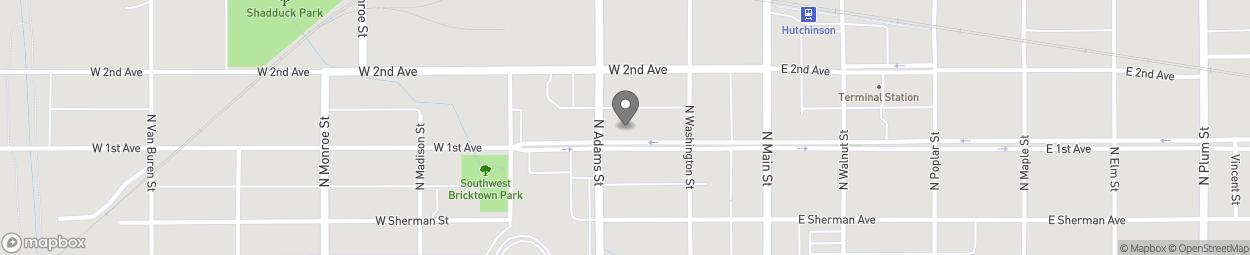 Carte de 122 West First Street à Hutchinson