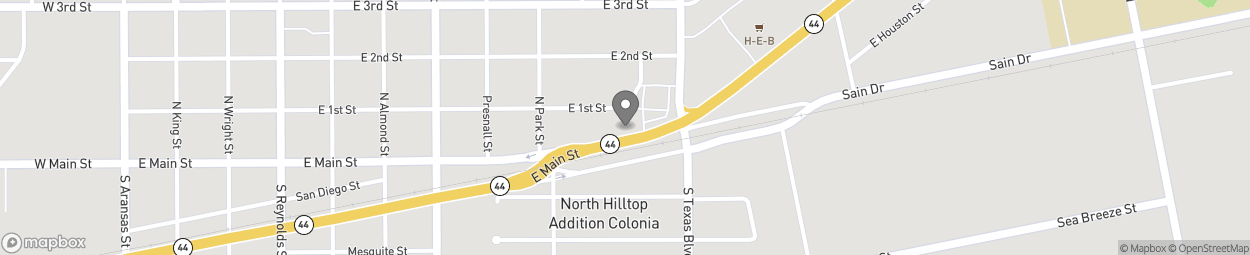 Map of 1019 East Main St in Alice