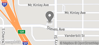 Map of 1209 Steves Avenue in San Antonio