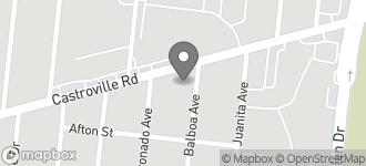 Map of 1302 Castroville Road in San Antonio