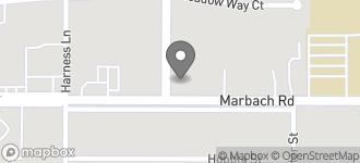 Map of 7919 Marbach Rd in San Antonio