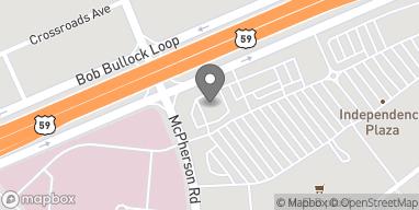 Map of 10719 McPherson Rd in Laredo