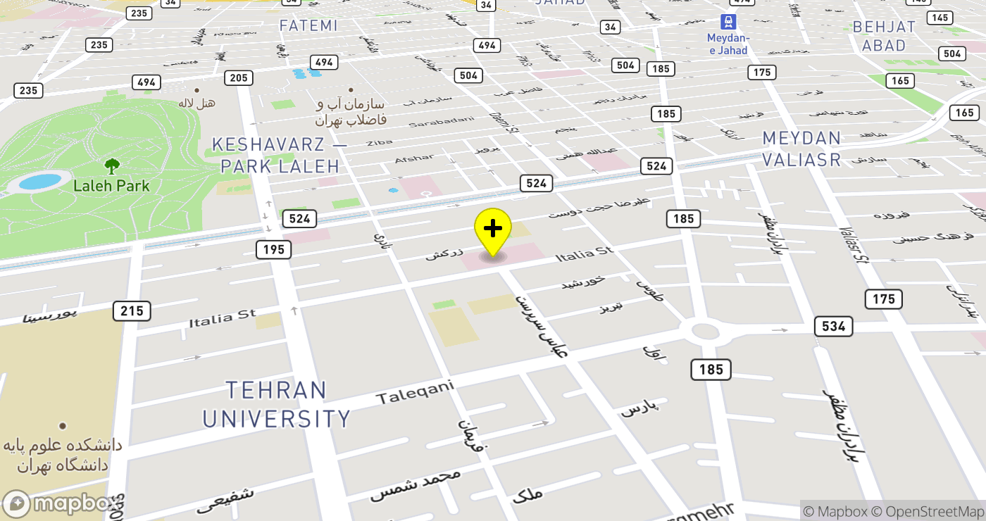 Mostafa Khomeini Hospital location