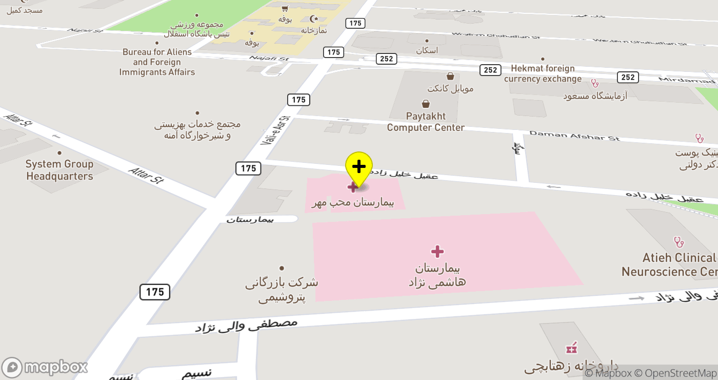 Moheb Mehr Hospital location