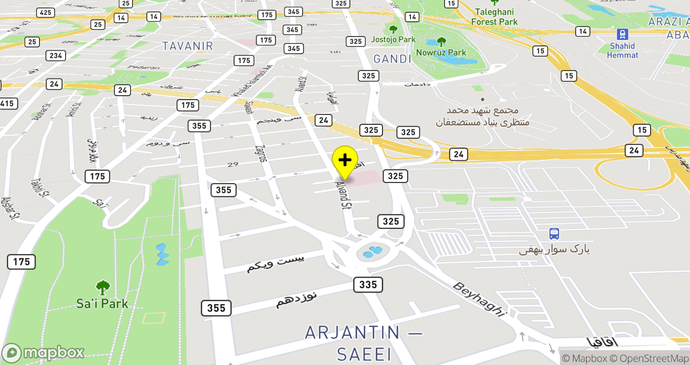 Kasra Hospital location