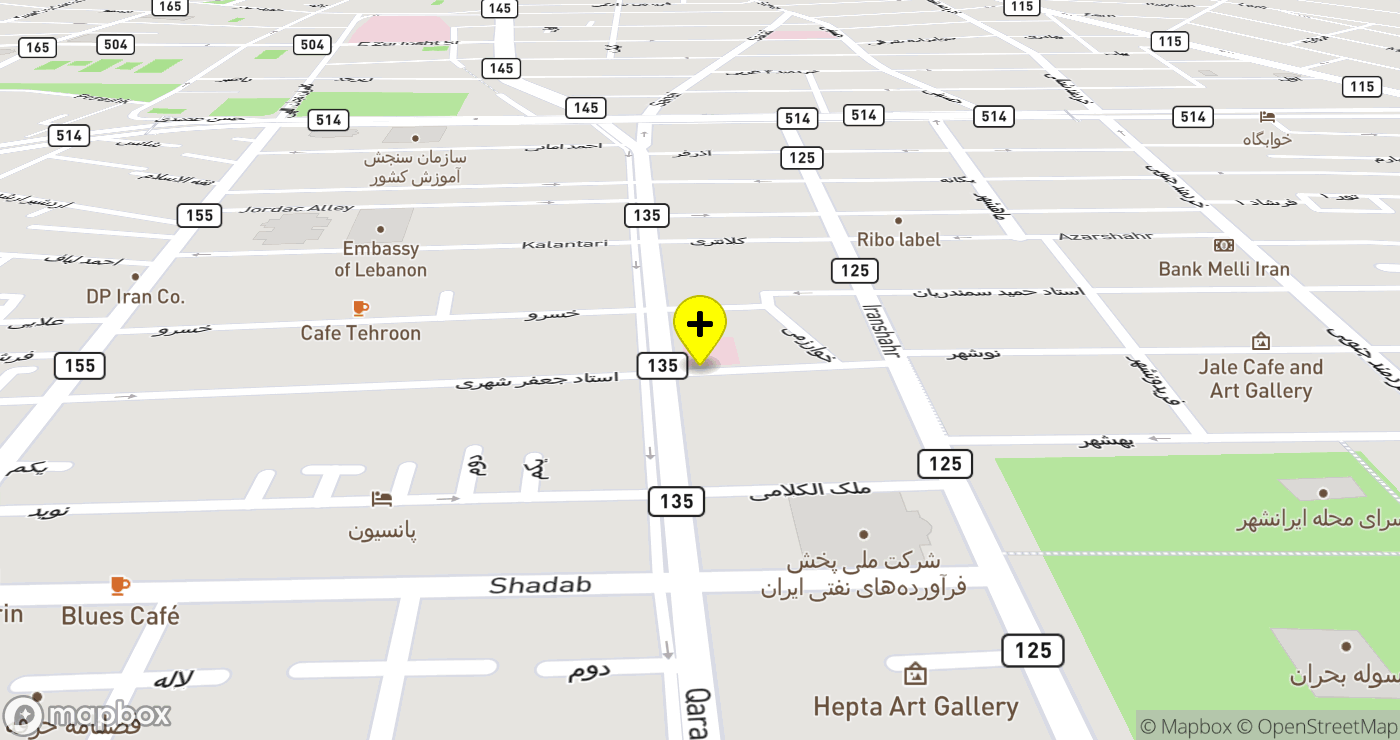 Apadana Hospital location