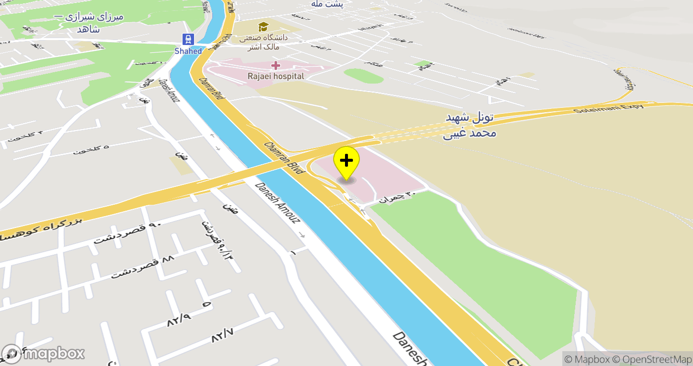 Ordibehesht Hospital location