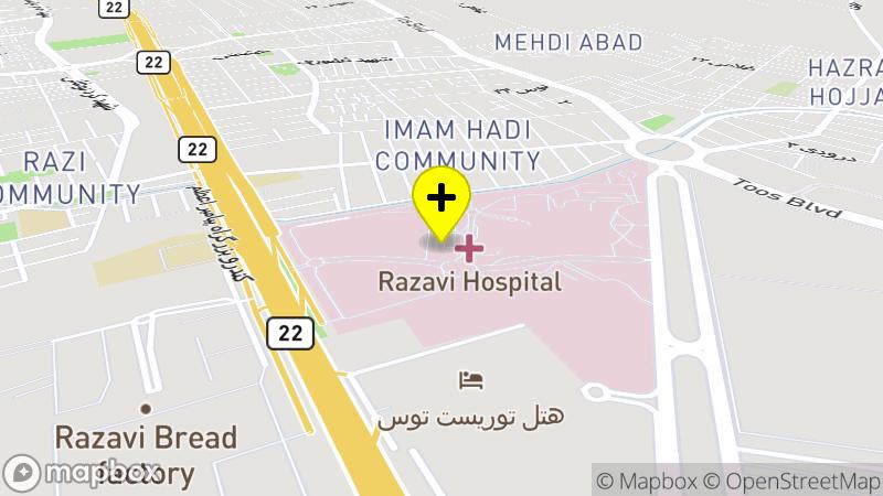 Razavi Hospital location