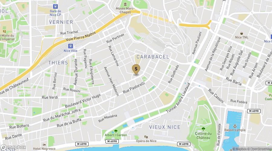 Plan de Nice centre
