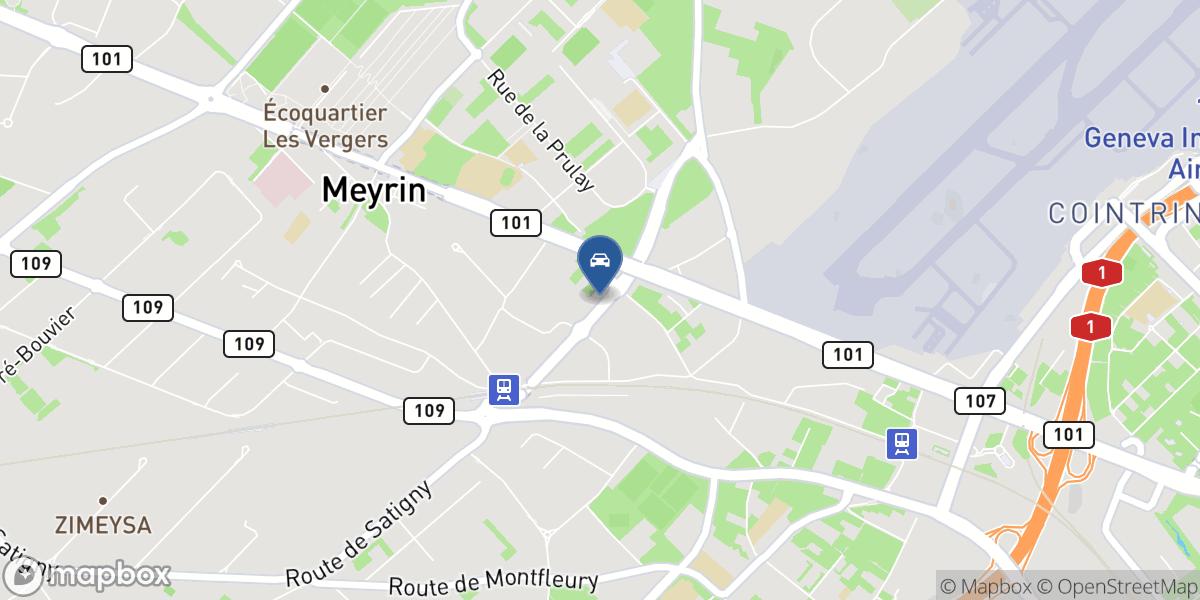 Facchinetti Automobiles (Genève - Meyrin) SA MINI map